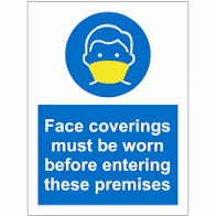 face mask must be worn on these premises